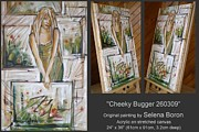 Cheeky Girl Framed Prints - Cheeky Bugger 260309 Framed Print by Selena Boron