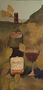 Wine-glass Tapestries - Textiles Prints - Cheers Print by Diann Diaz