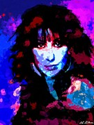 Movie Star Paintings - Cher by Allen Glass