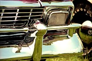 Autos Drawings - Chevrolet Bel Air 1956  by David M Davis