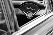 Belair Posters - Chevrolet Belair Dash Clock Poster by Jill Reger