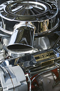 Car Photos Prints - Chevrolet Engine Print by Jill Reger