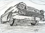Ink Drawing Drawings - Chevrolet by Eva Ason