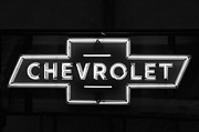 Neon Light Posters - Chevrolet Neon Light Poster by Jill Reger