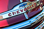Chevy Pickup Framed Prints - Chevrolet Pickup Truck Grille Emblem Framed Print by Jill Reger
