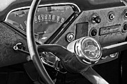 Steering Prints - Chevrolet Steering Wheel Emblem Print by Jill Reger