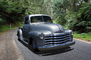 Chev Pickup Posters - Chevy Pickup Poster by Keith Hawley