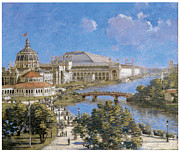 City Scape Painting Prints - Chicago Columbian Exposition Print by Theodore Robinson
