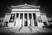 Chicago Attractions Posters - Chicago Field Museum in Black and White Poster by Paul Velgos