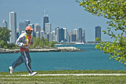 Jogger Posters - Chicago jogger Poster by Jim Wright