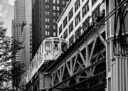 Railroad Tracks Framed Prints - Chicago Loop L Framed Print by Christine Till