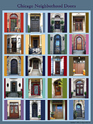 Egress Framed Prints - Chicago Neighborhood Doors Framed Print by Karla Ball