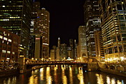 Chicago Nightscape Print by John Babis