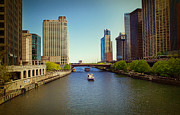 Multiple Exposures Posters - Chicago River Poster by Milena Ilieva