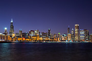 Robert Painter - Chicago Skyline at Night