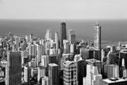 Chicago Skyline Bw Metal Prints - Chicago - That famous skyline Metal Print by Christine Till