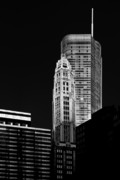 Chicago Skyline Bw Metal Prints - Chicago - Trump International Hotel and Tower Metal Print by Christine Till