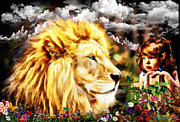 Lion Of Judah Posters - Child Like Wonder Poster by Dolores DeVelde