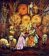 Sheep Art - Childrens Enchantment by Linda Simon