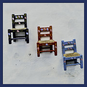 Handcrafted Art - Childrens Little Chairs on Display by Phil Cardamone