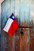James Brunker - Chilean Flag on Church Door