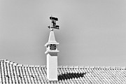 Alto-alentejo Posters - Chimney and Weather Vane Poster by Jose Elias - Sofia Pereira