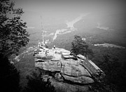 Chimney Rock North Carolina Posters - Chimney Rock Poster by Kelly Hazel
