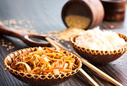 Noodles Prints - Chinese food Print by Mythja  Photography