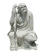 Ancient Sculpture Prints - Chinese God Sculpture Print by Pong Am