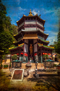 Buddhism Digital Art Metal Prints - Chinese Temple Metal Print by Adrian Evans