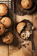 Country Kitchen Posters - Chocolate Chip Muffins Poster by Christopher and Amanda Elwell