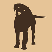 Labrador Retriever Puppy Digital Art - Chocolate Labrador by Elizabeth Harshman
