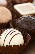 Candies Photos - Chocolate Truffles by Lusoimages  