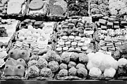 Local Food Prints - chocolates on display inside the la boqueria market in Barcelona Catalonia Spain Print by Joe Fox