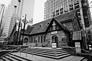 Old Christ Church Prints - Christ Church Anglican Cathedral Vancouver BC Canada Print by Joe Fox