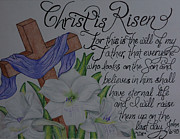 Christ Drawings - Christ is Risen by G Marie