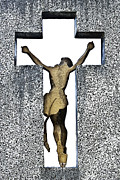 Puerto Rico Photo Originals - Christ on the Cross San Juan Puerto Rico by John Hanou