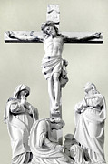 Evansville Photo Metal Prints - Christ on the Cross with Mourners Evansville Indiana 2006 Metal Print by John Hanou
