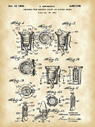 Rudolph Prints - Christmas Bulb Socket Patent Print by Stephen Younts