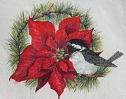 Gloria S Schloss - Christmas Chickadee