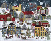 Christmas Eve Paintings - Christmas Eve by Medana Gabbard