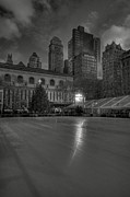 Bryant Framed Prints - Christmas in Bryant Park Framed Print by Mike Horvath