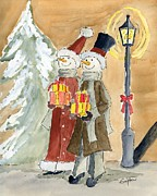 Seasons Drawings - Christmas is coming by Eva Ason