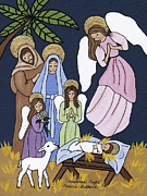 Nativity Paintings - Christmas Night by Medana Gabbard