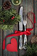 Christmas Ornaments Print by Mythja  Photography