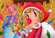 Christmas Eve Drawings - Christmas by T Koni