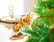 Banquet Photos - Christmas table setting by Anna Omelchenko