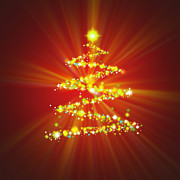 Cool Digital Art Originals - Christmas Tree by Atiketta Sangasaeng