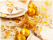 Banquet Photos - Christmastime table decoration by Anna Omelchenko
