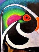 Wood Duck Paintings - Chuck by Venita Henderson